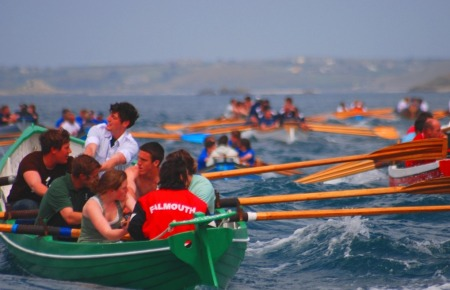 Gig Rowing in Falmouth  - Caught up in the drama and excitement of a competitive race