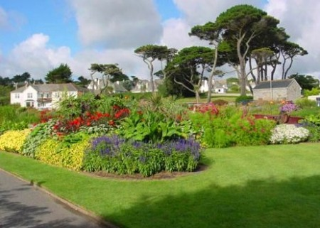 Queen Mary gardens in Falmouth, Cornwall