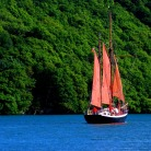Sail training ship Hardiesse on the Fal
