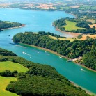 Aerial shot of the beautiful River Fal - credit CMN