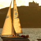 Sailing past Pendennis Castle - credit CMN