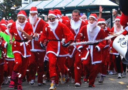 Santa Run. GO, GO, GO!