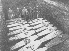 Mass burial for victims of the SS Mohegan at St Keverne Church, Cornwall